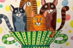 Кошки в лукошке)))